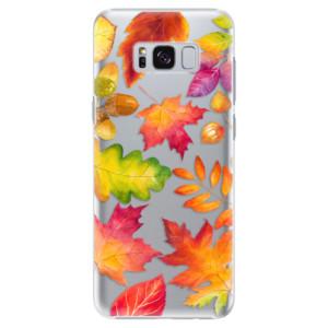 Plastové pouzdro iSaprio Autumn Leaves 01 na mobil Samsung Galaxy S8