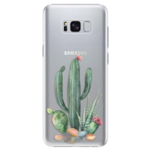 Plastové pouzdro iSaprio Kaktusy 02 na mobil Samsung Galaxy S8