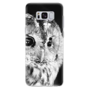 Plastové pouzdro iSaprio BW Sova na mobil Samsung Galaxy S8