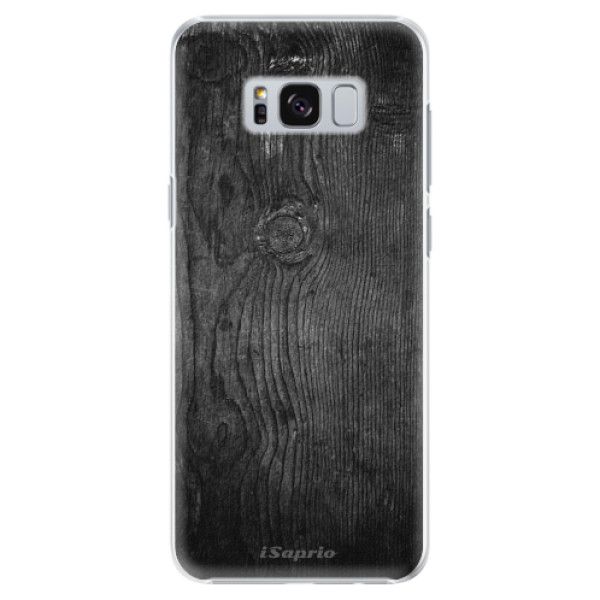 Plastové pouzdro iSaprio black Wood 13 na mobil Samsung Galaxy S8 Plus (Plastový obal, kryt, pouzdro iSaprio black Wood 13 na mobilní telefon Samsung Galaxy S8 Plus)