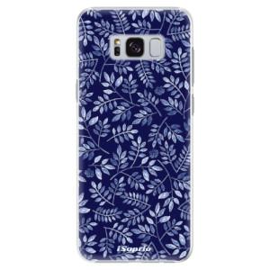 Plastové pouzdro iSaprio Blue Leaves 05 na mobil Samsung Galaxy S8 Plus