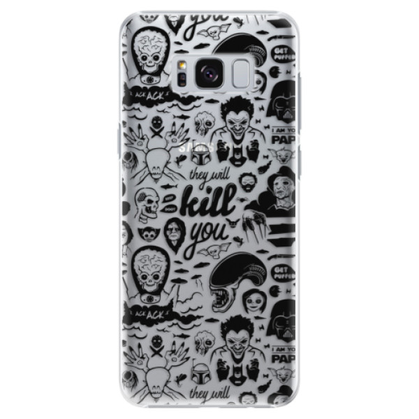 Plastové pouzdro iSaprio Komiks 01 black na mobil Samsung Galaxy S8 Plus (Plastový kryt, obal, pouzdro iSaprio Komiks 01 black na mobilní telefon Samsung Galaxy S8 Plus)