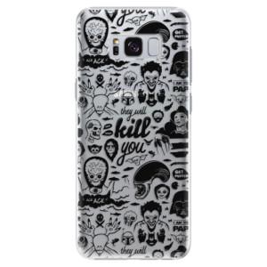 Plastové pouzdro iSaprio Komiks 01 black na mobil Samsung Galaxy S8 Plus