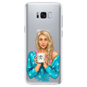 Plastové pouzdro iSaprio Coffee Now Blondýna na mobil Samsung Galaxy S8 Plus