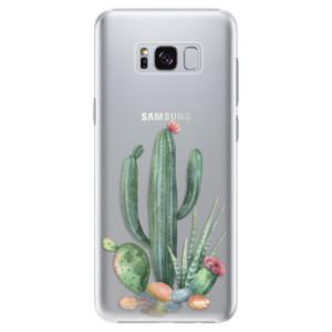 Plastové pouzdro iSaprio Kaktusy 02 na mobil Samsung Galaxy S8 Plus