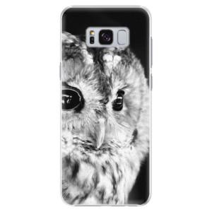 Plastové pouzdro iSaprio BW Sova na mobil Samsung Galaxy S8 Plus