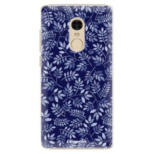 Plastové pouzdro iSaprio Blue Leaves 05 na mobil Xiaomi Redmi Note 4