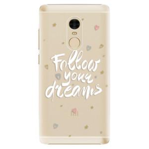 Plastové pouzdro iSaprio Follow Your Dreams bílý na mobil Xiaomi Redmi Note 4