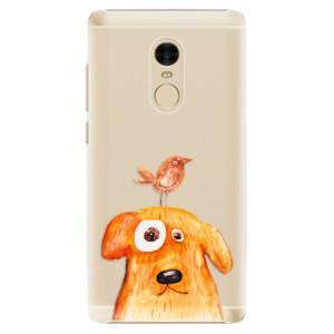 Plastové pouzdro iSaprio Pejsek a Ptáček na mobil Xiaomi Redmi Note 4
