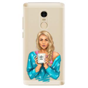 Plastové pouzdro iSaprio Coffee Now Blondýna na mobil Xiaomi Redmi Note 4