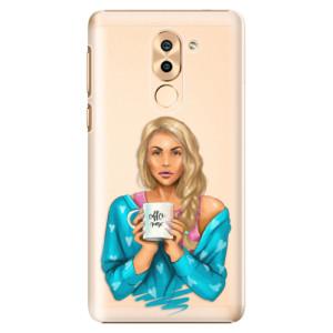 Plastové pouzdro iSaprio Coffee Now Blondýna na mobil Honor 6X