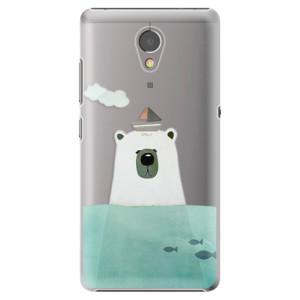 Plastové pouzdro iSaprio Bear With Boat na mobil Lenovo P2