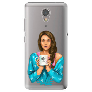 Plastové pouzdro iSaprio Coffee Now Brunetka na mobil Lenovo P2