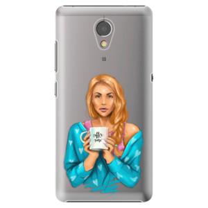 Plastové pouzdro iSaprio Coffee Now Zrzka na mobil Lenovo P2