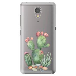 Plastové pouzdro iSaprio Kaktusy 01 na mobil Lenovo P2
