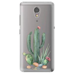 Plastové pouzdro iSaprio Kaktusy 02 na mobil Lenovo P2