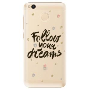 Plastové pouzdro iSaprio Follow Your Dreams černý na mobil Xiaomi Redmi 4X