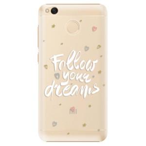 Plastové pouzdro iSaprio Follow Your Dreams bílý na mobil Xiaomi Redmi 4X