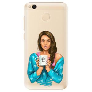 Plastové pouzdro iSaprio Coffee Now Brunetka na mobil Xiaomi Redmi 4X
