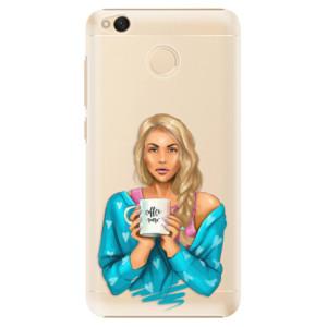 Plastové pouzdro iSaprio Coffee Now Blondýna na mobil Xiaomi Redmi 4X