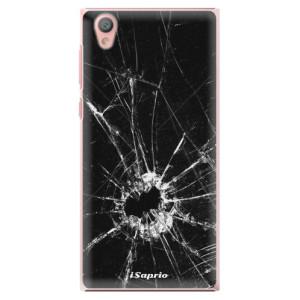 Plastové pouzdro iSaprio Broken Glass 10 na mobil Sony Xperia L1