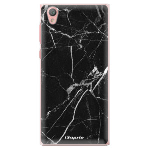 Plastové pouzdro iSaprio black Marble 18 na mobil Sony Xperia L1