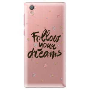 Plastové pouzdro iSaprio Follow Your Dreams černý na mobil Sony Xperia L1
