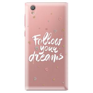 Plastové pouzdro iSaprio Follow Your Dreams bílý na mobil Sony Xperia L1