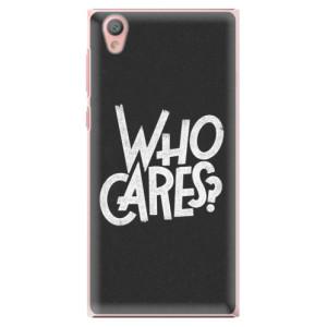 Plastové pouzdro iSaprio Who Cares na mobil Sony Xperia L1