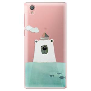 Plastové pouzdro iSaprio Bear With Boat na mobil Sony Xperia L1