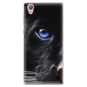 Plastové pouzdro iSaprio black Puma na mobil Sony Xperia L1