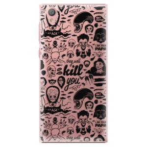 Plastové pouzdro iSaprio Komiks 01 black na mobil Sony Xperia L1