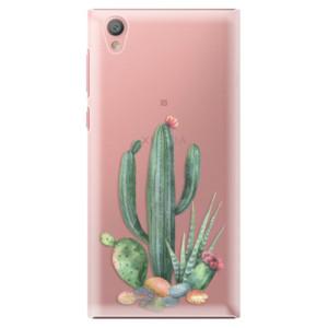 Plastové pouzdro iSaprio Kaktusy 02 na mobil Sony Xperia L1