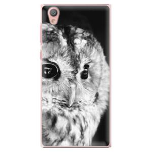Plastové pouzdro iSaprio BW Sova na mobil Sony Xperia L1