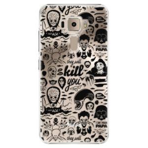 Plastové pouzdro iSaprio Komiks 01 black na mobil Asus ZenFone 3 ZE520KL