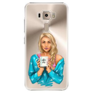 Plastové pouzdro iSaprio Coffee Now Blondýna na mobil Asus ZenFone 3 ZE520KL
