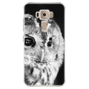 Plastové pouzdro iSaprio BW Sova na mobil Asus ZenFone 3 ZE520KL