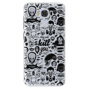 Plastové pouzdro iSaprio Komiks 01 black na mobil Asus ZenFone 3 Max ZC553KL