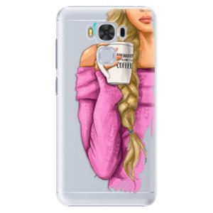 Plastové pouzdro iSaprio Blondýnka s kafčem na mobil Asus ZenFone 3 Max ZC553KL