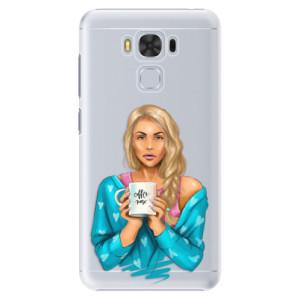 Plastové pouzdro iSaprio Coffee Now Blondýna na mobil Asus ZenFone 3 Max ZC553KL