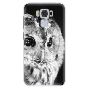 Plastové pouzdro iSaprio BW Sova na mobil Asus ZenFone 3 Max ZC553KL