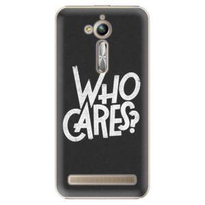 Plastové pouzdro iSaprio Who Cares na mobil Asus ZenFone Go ZB500KL