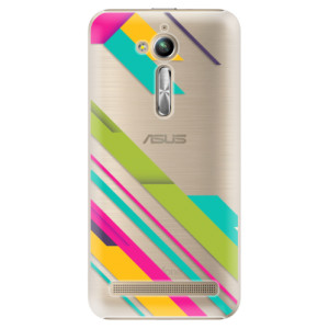 Plastové pouzdro iSaprio Barevné Pruhy 03 na mobil Asus ZenFone Go ZB500KL