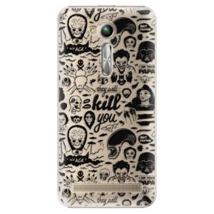 Plastové pouzdro iSaprio Komiks 01 black na mobil Asus ZenFone Go ZB500KL