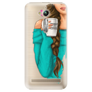 Plastové pouzdro iSaprio Brunetka s kafčem na mobil Asus ZenFone Go ZB500KL