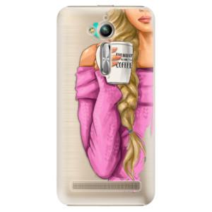 Plastové pouzdro iSaprio Blondýnka s kafčem na mobil Asus ZenFone Go ZB500KL