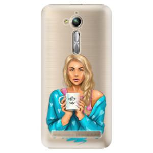 Plastové pouzdro iSaprio Coffee Now Blondýna na mobil Asus ZenFone Go ZB500KL