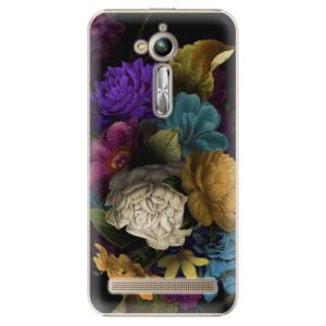 Plastové pouzdro iSaprio Temné Květy na mobil Asus ZenFone Go ZB500KL