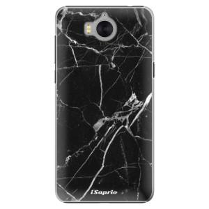 Plastové pouzdro iSaprio black Marble 18 na mobil Huawei Y5 2017 / Y6 2017
