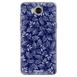Plastové pouzdro iSaprio Blue Leaves 05 na mobil Huawei Y5 2017 / Y6 2017